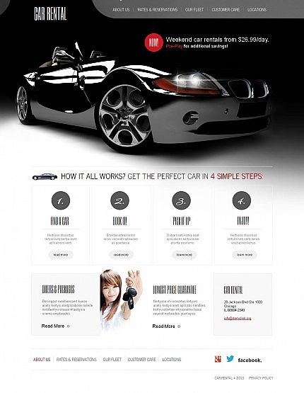 car most popular moto cms html template 46396 cars say