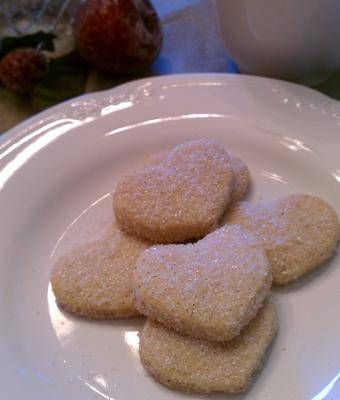Heart Shaped Mexican Wedding Cookies