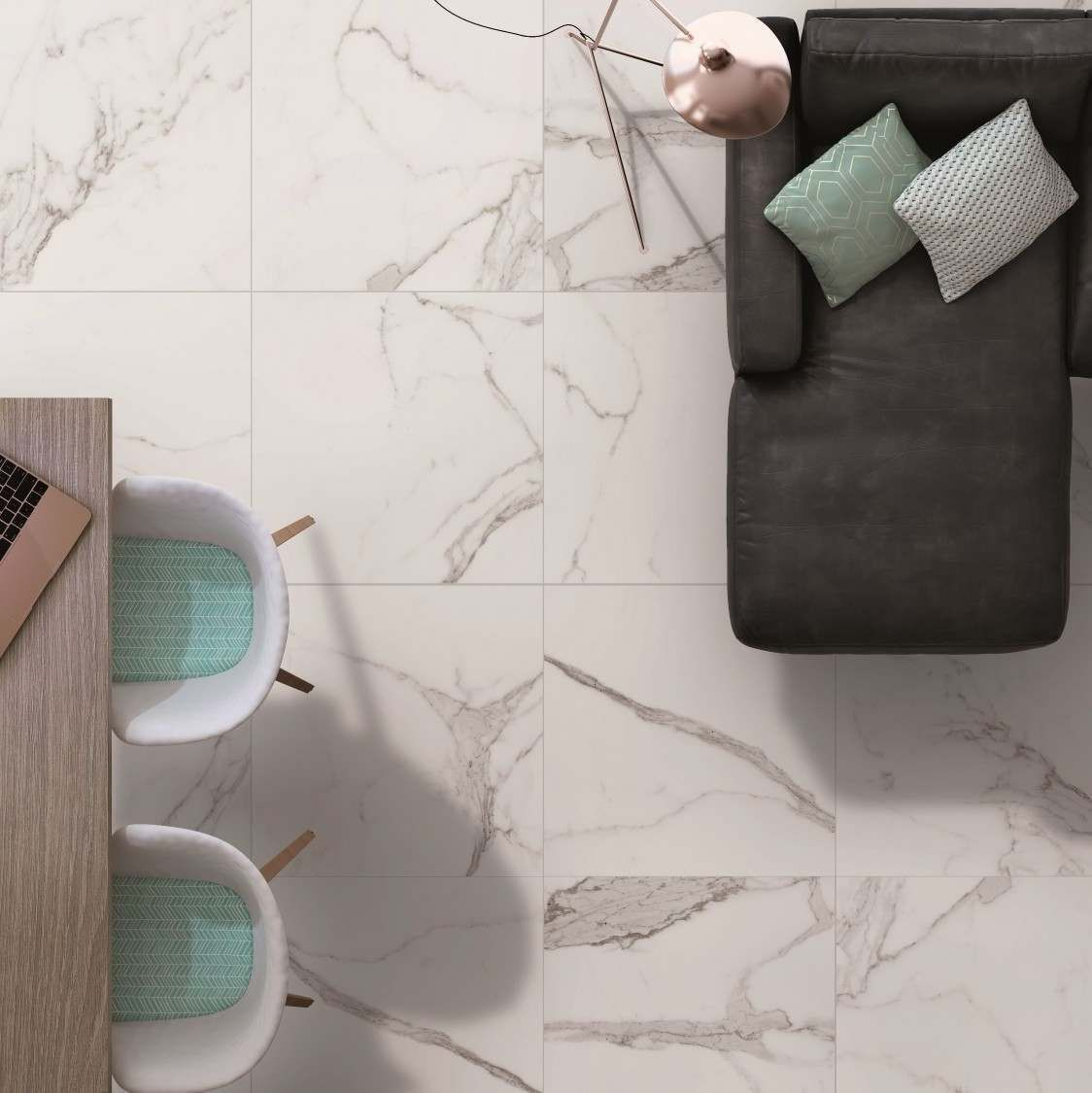Palatina Marble Effect White Gloss Floor Tile In 2018 Bathrooms