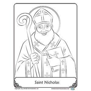 Herald Store Free Coloring Page Saint Nicholas Coloring Pages Catholic Kids Crafts Catholic Crafts