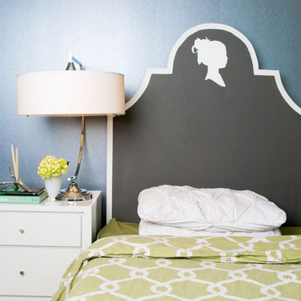 I want to make a chalkboard headboard! I need a bed.