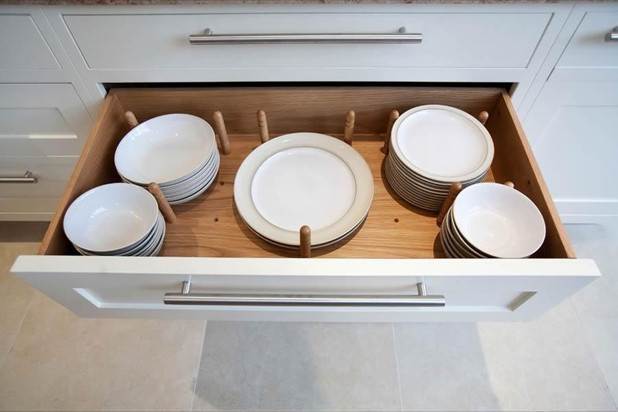 elegant kitchen storage keep your plates tidy in this bespoke drawer elegant kitchens on kitchen organization elegant id=56155