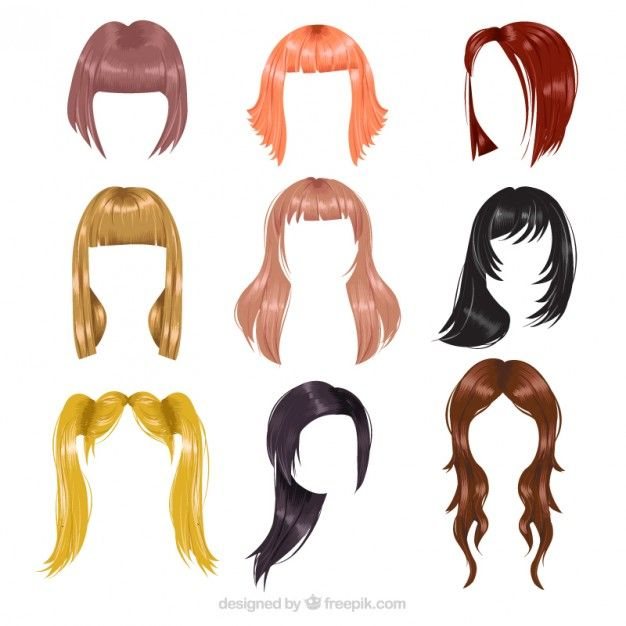 Download Variety Of Hairstyles For Free In 2020 Hair Vector