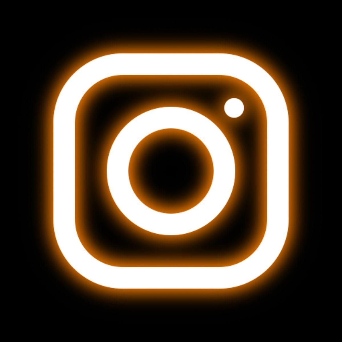Instagram neon icon