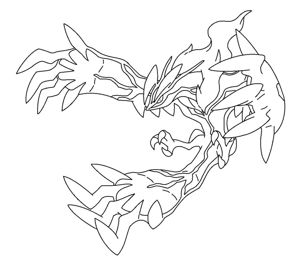 Pokemon Yveltal Coloring Pages From The Thousand Images
