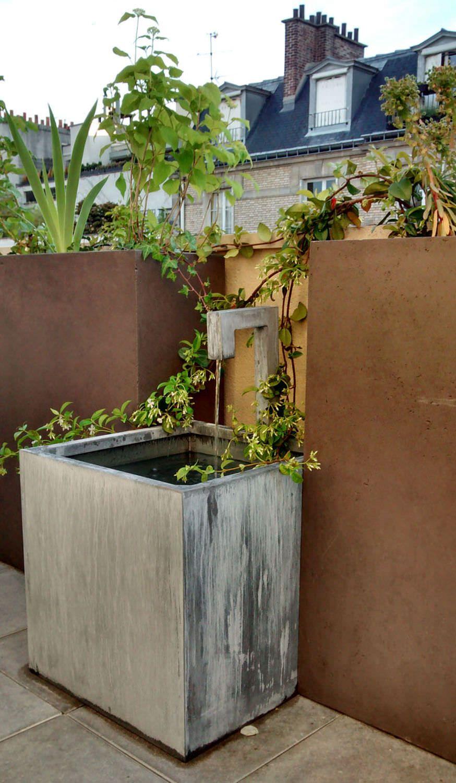 Fontaine de jardin en zinc - FONTAINE ZINC A BEC - OSMOSE SARL | eau ...
