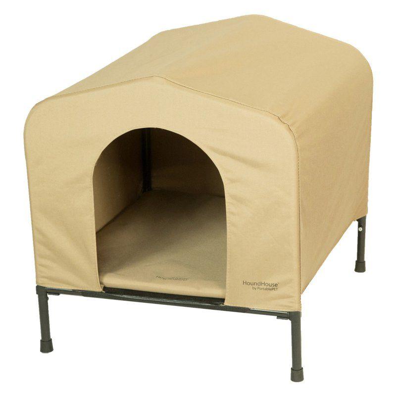 Portablepet Houndhouse Dog Kennel Khaki 3095 Pet Kennels Dog