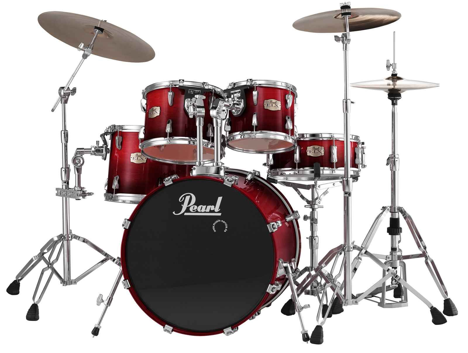 Red Pearl Drum Set   Love it    Drum on   Pinterest   Pearl drums     Red Pearl Drum Set   Love it