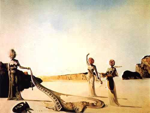 salvador dali three women with heads of flowers finding. Black Bedroom Furniture Sets. Home Design Ideas