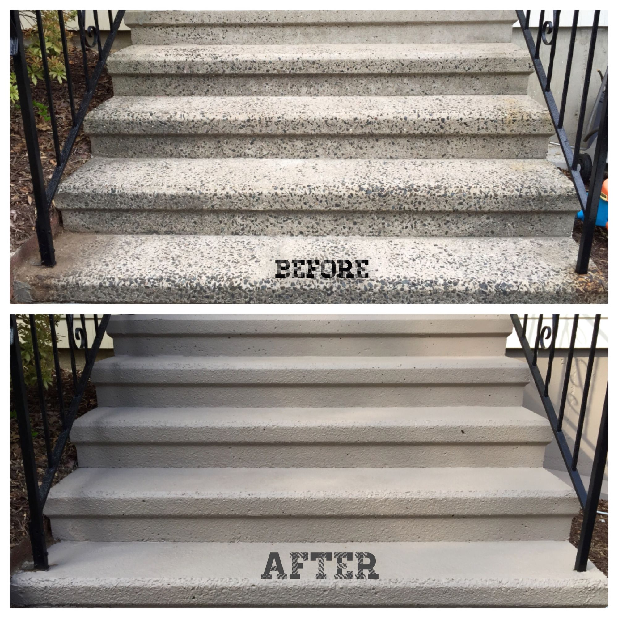 Spring Update Resurfaced Repainted Concrete Steps | Painting Outside Concrete Steps