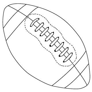 How To Draw A Football Football Drawing Football Quilt Sports