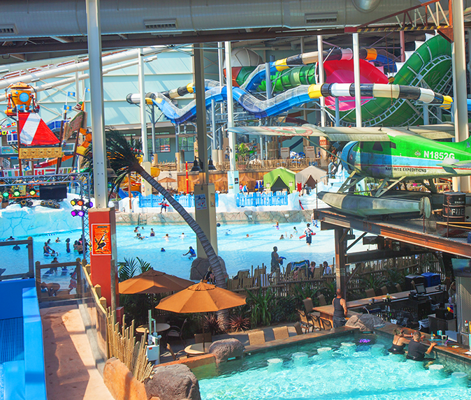 Aquatopia Indoor Waterpark Offers 13 Thrilling Waterslides And Various Aqua Adventures Indoor Waterpark Water Park Poconos