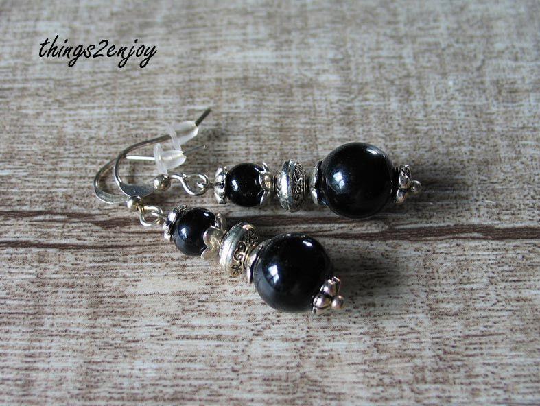 "Ohrhänger "" BlackBeauty"" von things2enjoy auf DaWanda.com"