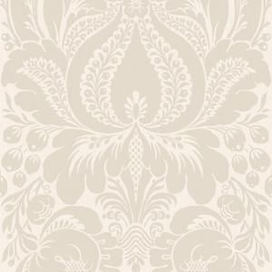 The Wallpaper Company 56 Sq Ft Greige Large Scale Damask WC1281855 At Home Depot