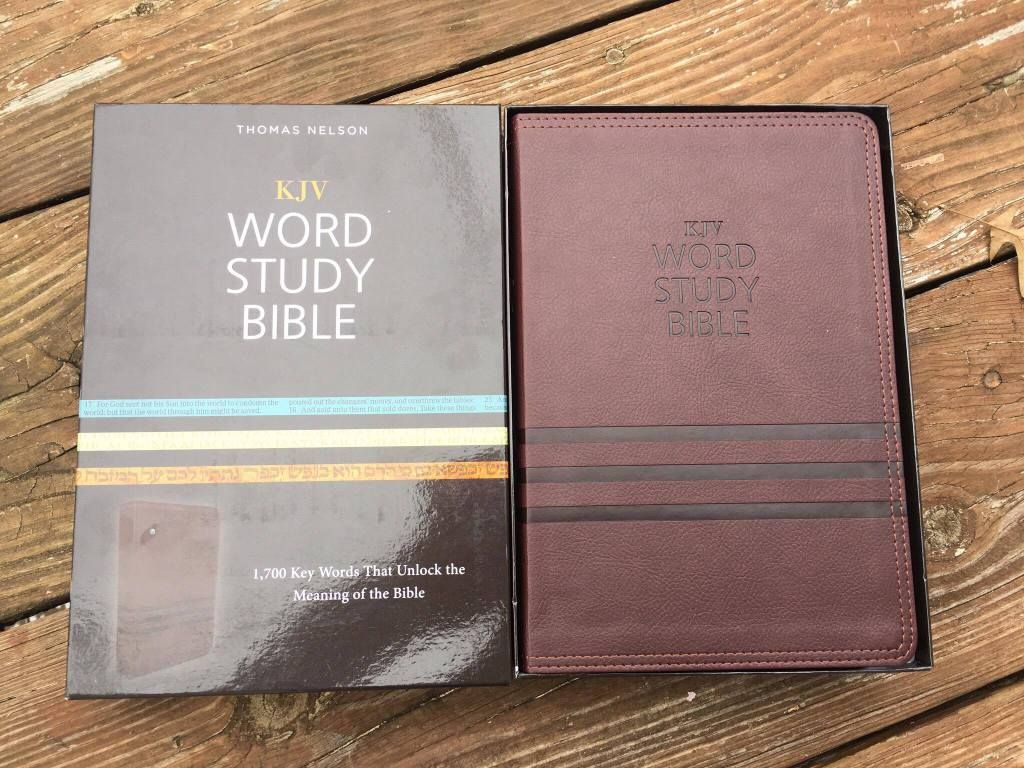 Thomas Nelson's KJV Word Study Bible Review Crystal