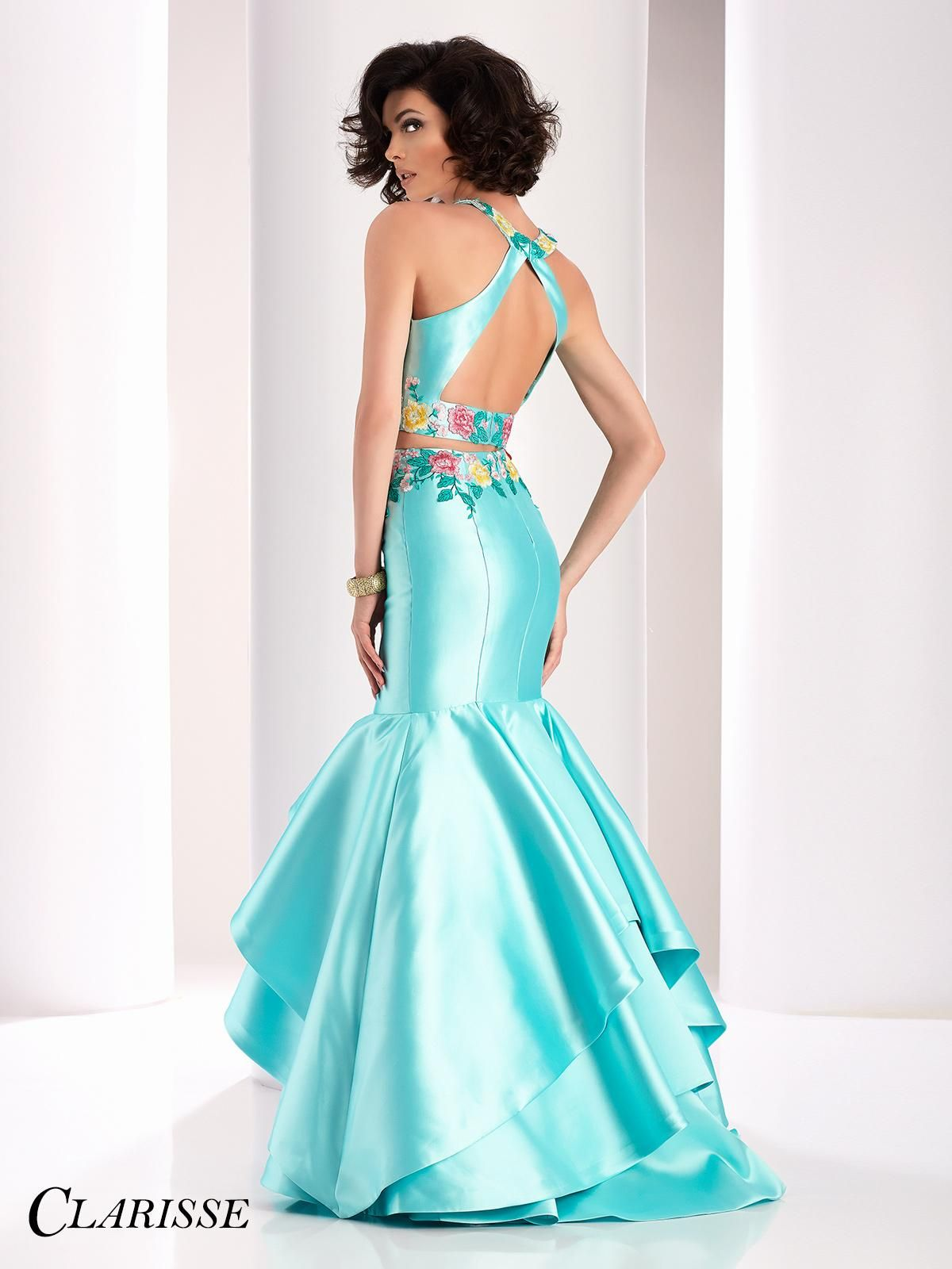 Clarisse two piece tiered mermaid prom dress make a statement