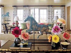 Living room (Oprah's home in Hawaii)