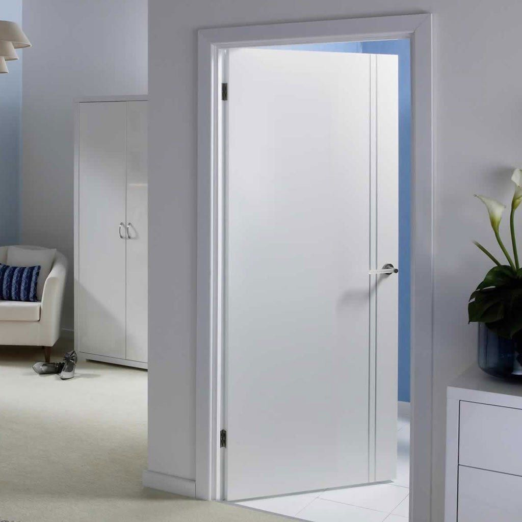Sierra blanco white painted flush door flush doors white paints sierra blanco white primed flush door pre finished with feature grooves which ensure that planetlyrics Gallery