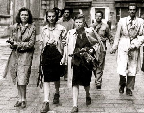Female members of the French Resistance