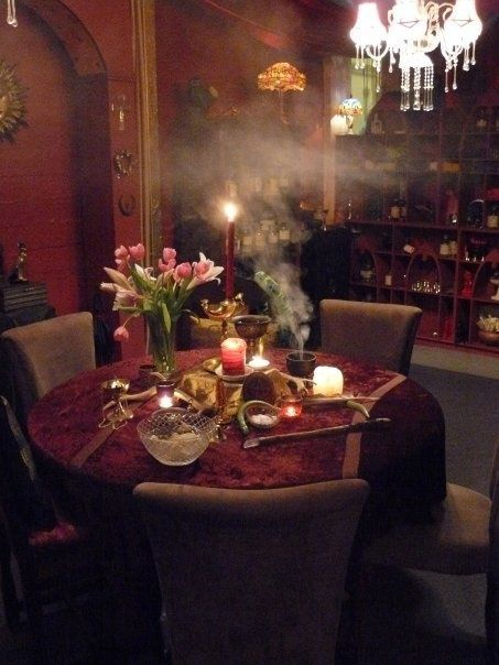 The editors of publications international, ltd. Divination room   Witch room, Witch cottage, Decor