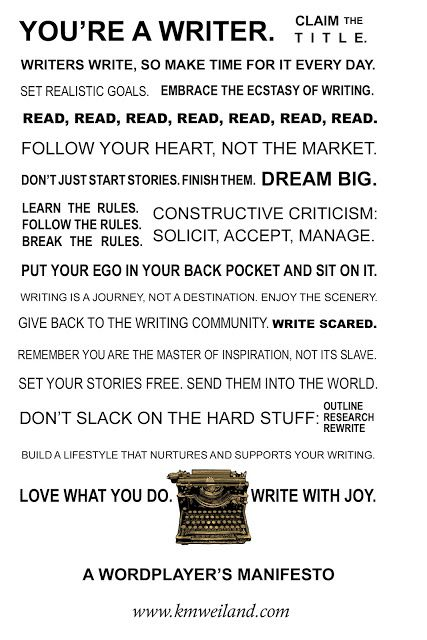 A Wordplayer's Manifesto - Helping Writers Become Authors