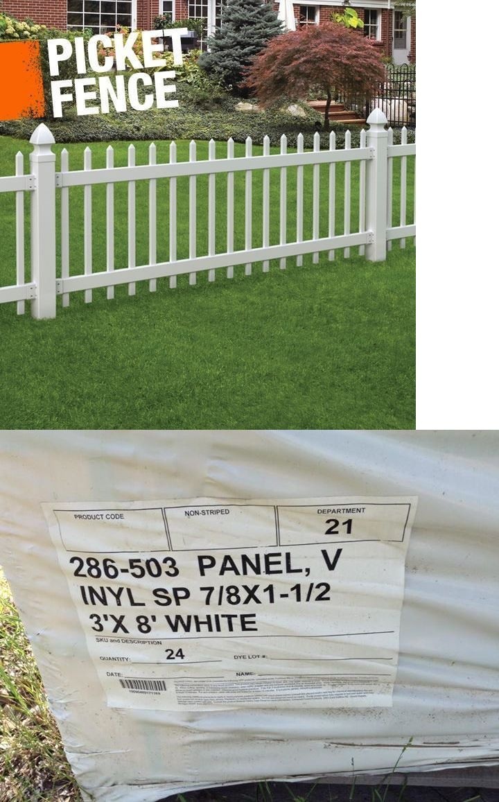 fence panels 139946 24 white pointed vinyl fence panel picket 3ft