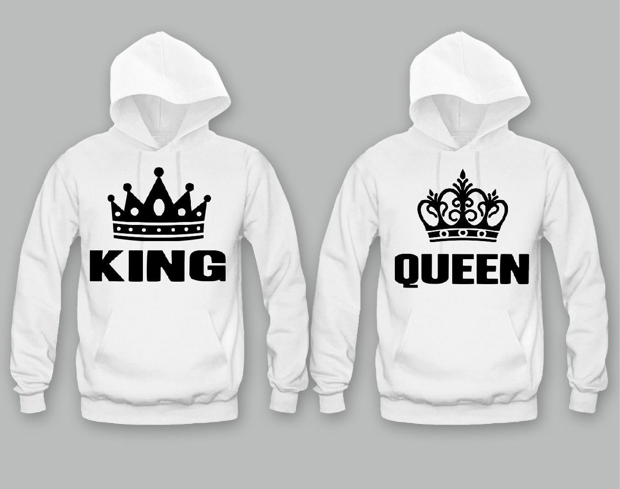 1f8762a2c3 King and Queen Unisex Couple Matching Hoodies in 2019 | <3 ...