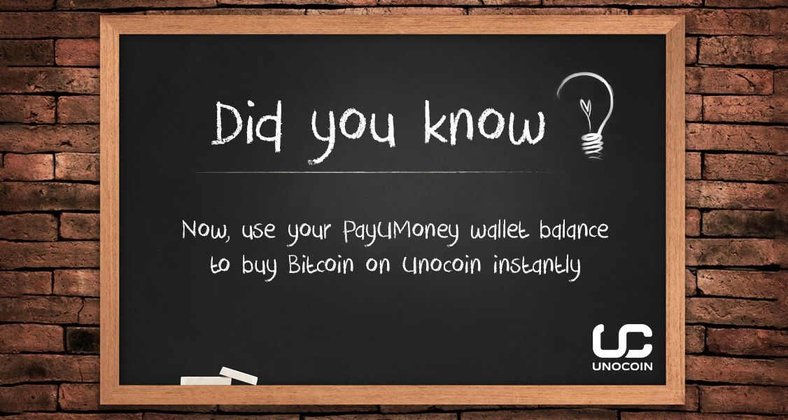 Buy #bitcoin instantly with your PayUMoney wallet balance on Unocoin   Blockchain