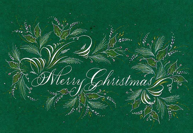 Merry Christmas - Offhand flourishing decoration
