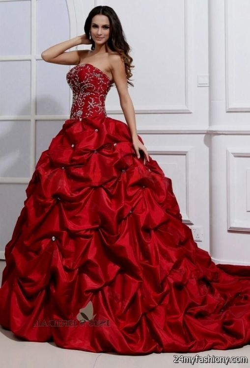 red wedding dress davids bridal engaged dress Pinterest Red