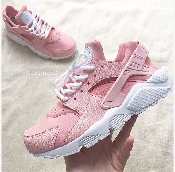 ROSA Nike Air Huarache Rosa Nike Huarache Rose White by JKLcustoms ... 8f58cf180