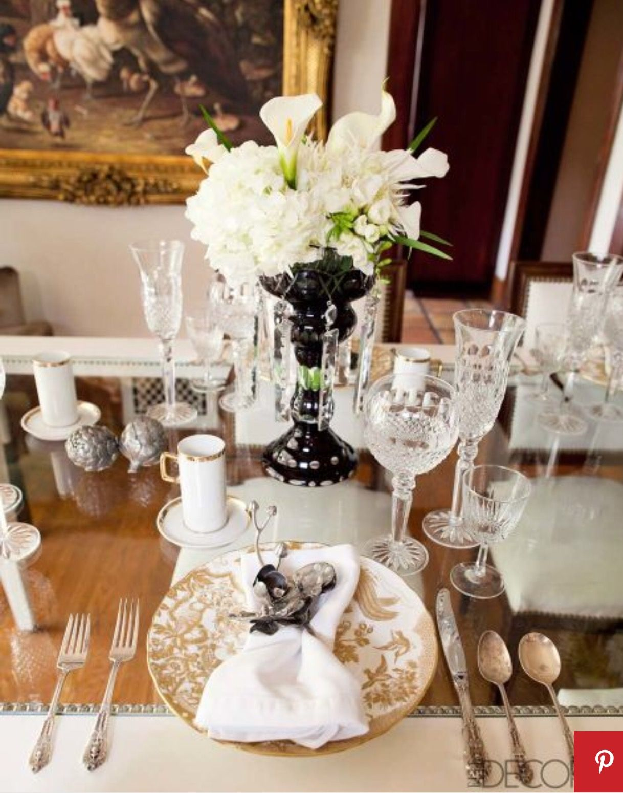 Janie Bryant table setting in her home