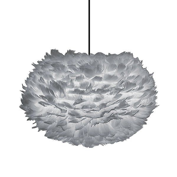 Eos Grey Pendant | Gray pendant, Feather lamp, Pendant light