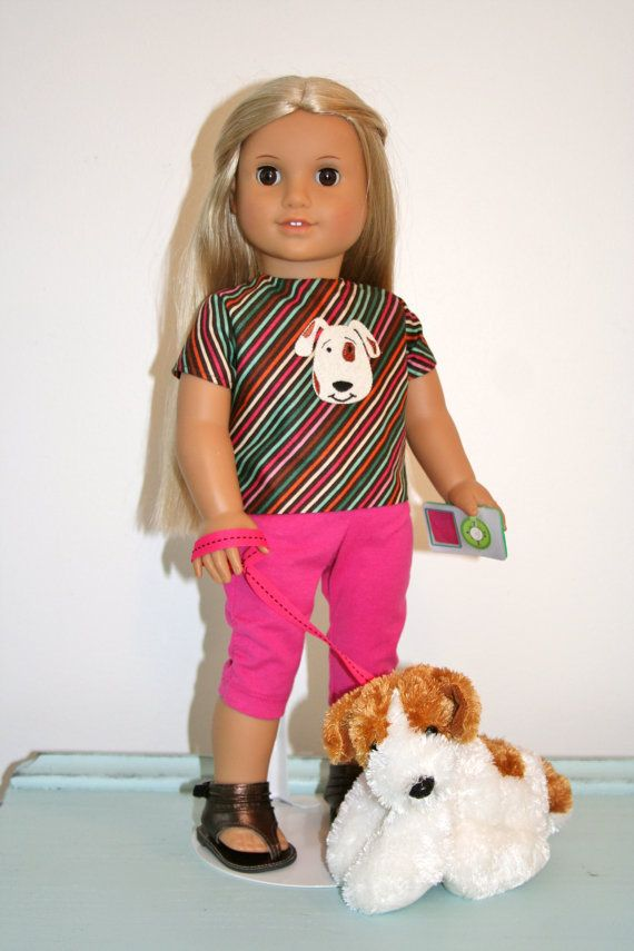TShirt and Leggings American Girl Doll / by diamonddollyboutique, $30.00