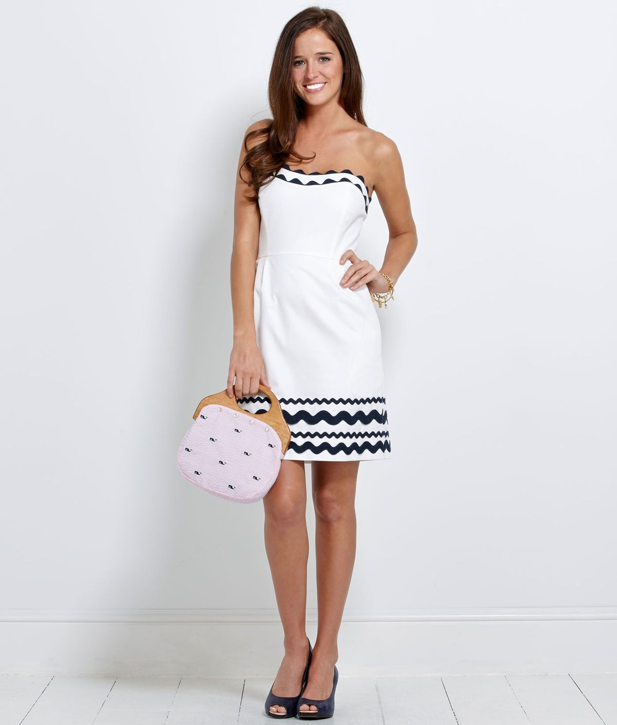 Vineyard Vines Dress Perfect For Au Tailgating With An Orange Necklace Of Course I D Have To Be 15 Years Yo Derby Attire Sweetheart Strapless Dress Fashion [ 1410 x 1200 Pixel ]