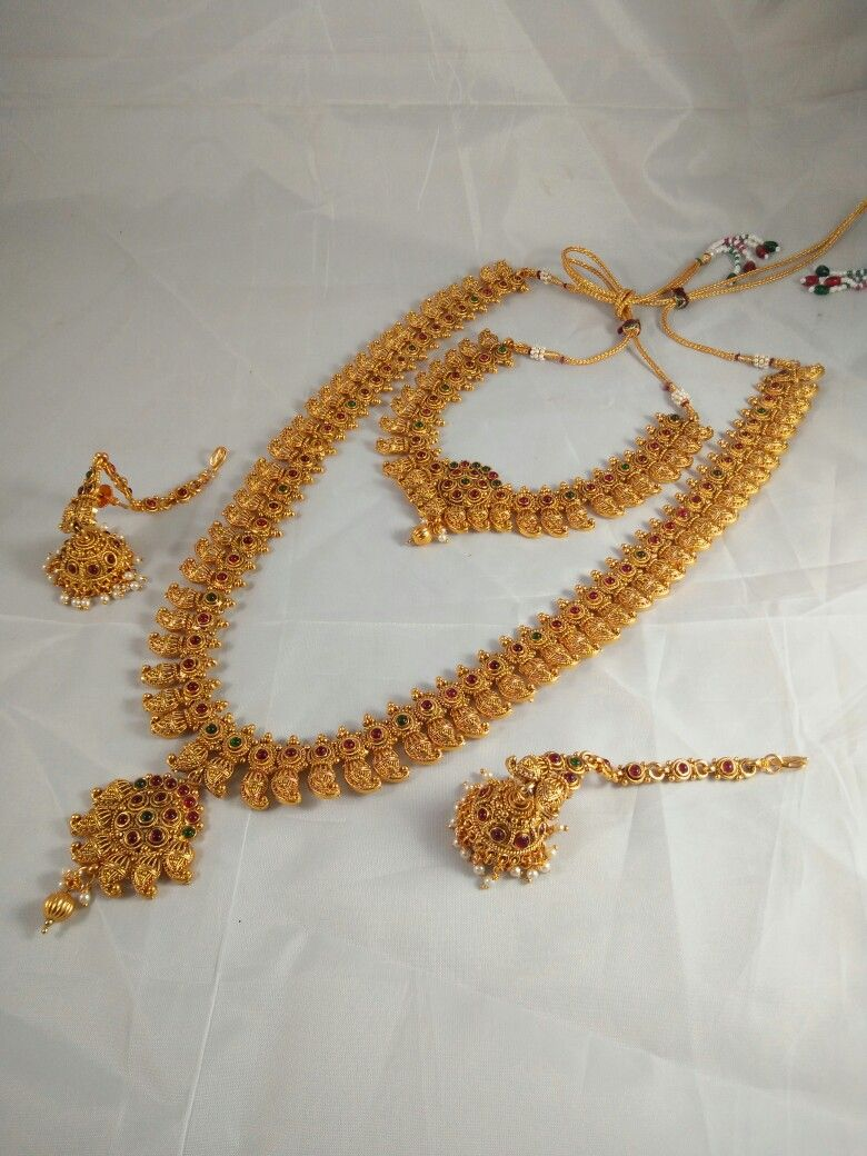 Amazing Traditional South Indian Long Necklace Set South