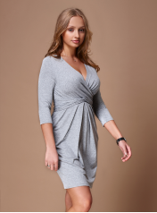 Wrap And Tie Dress Dresses For Women With Big Breasts Dd Atelier