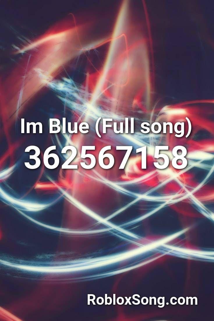 roblox song id im blue