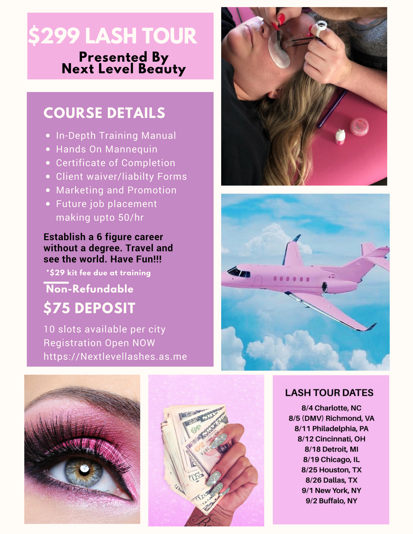 Learn How To Slay Mink Lashes With Eyelash Extension Training 299