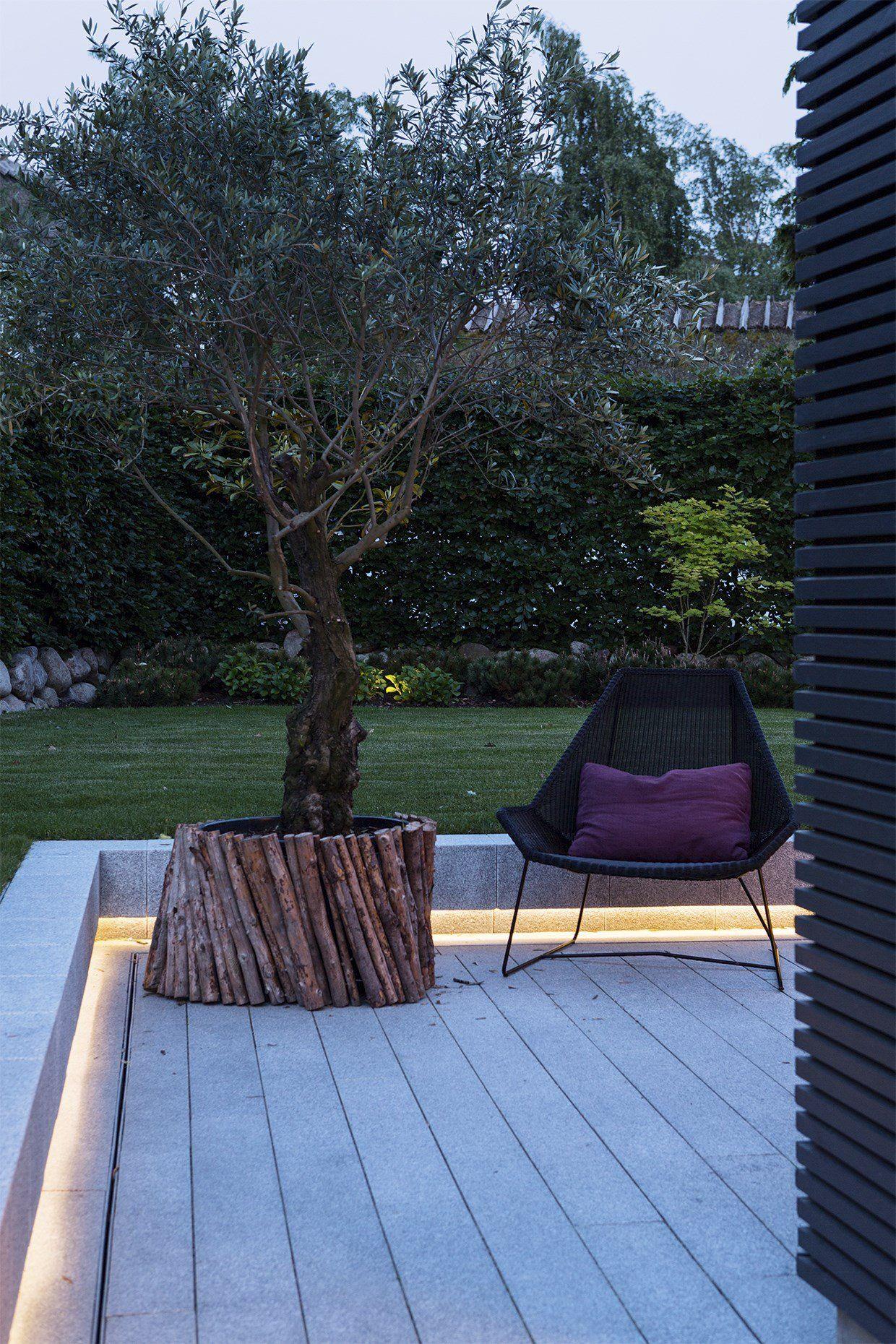 outdoor stair lighting lounge. Trädäck Med Avslutande Bänk Dold Ljusslang Under. Outdoor Stair Lighting Lounge