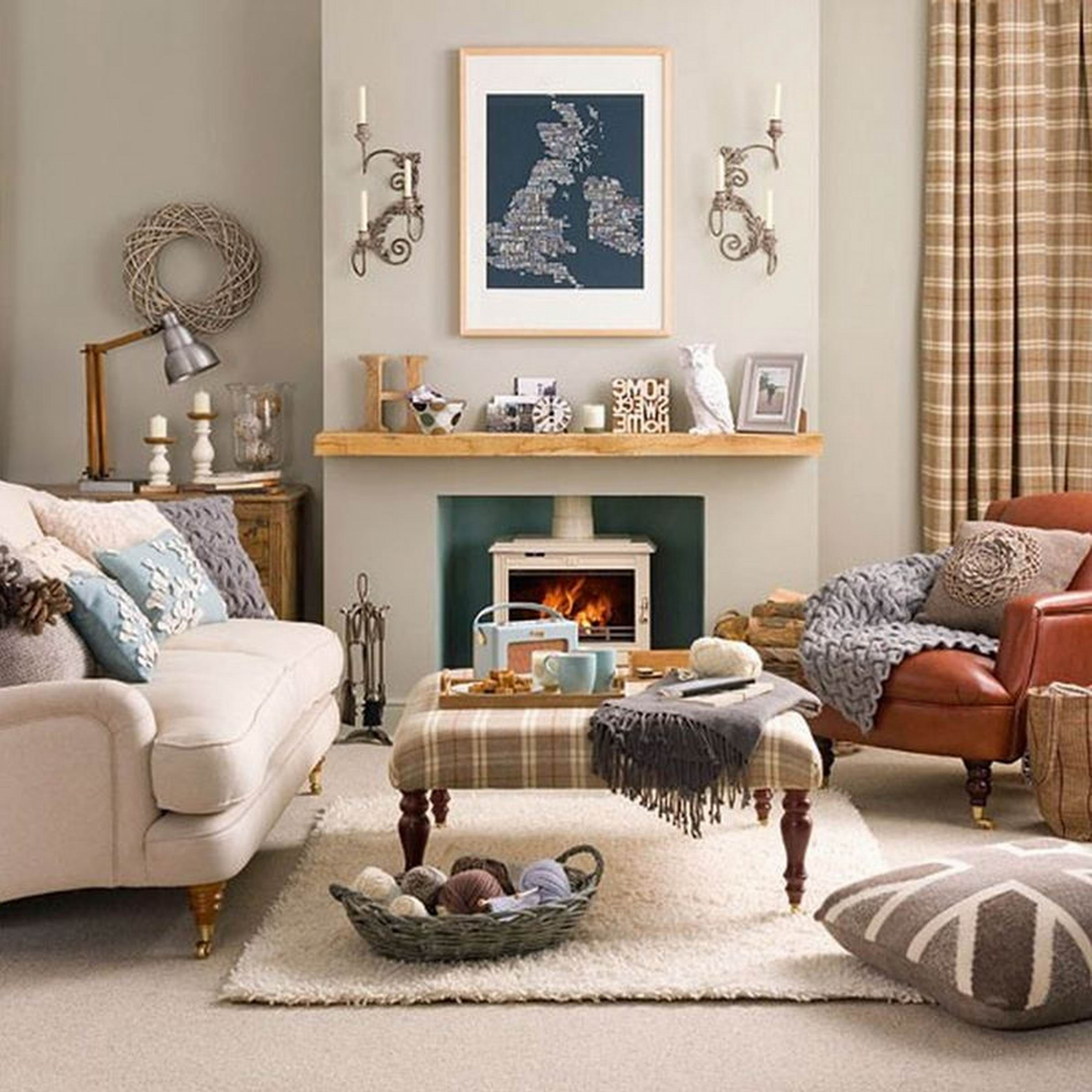Living Room Decor, Country Style Living Room
