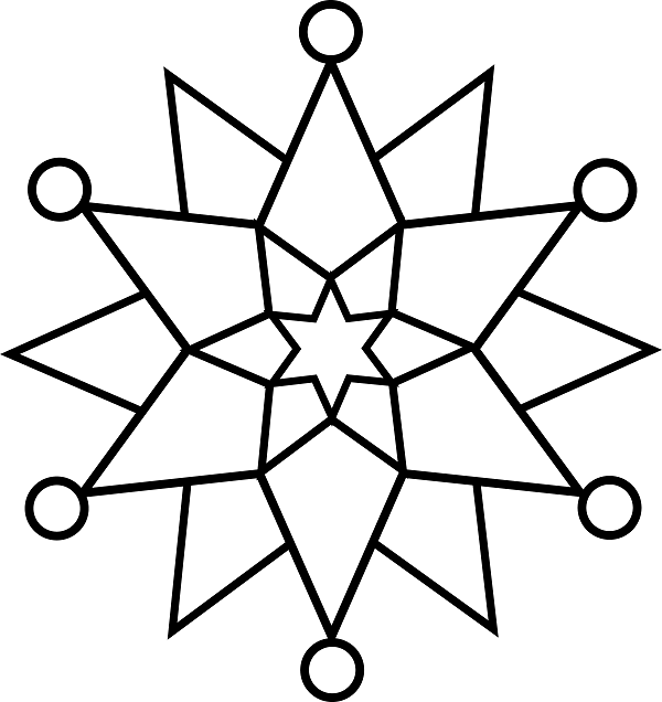 Simple Snowflake Coloring Pages Free Printable Online