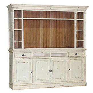 Hudson Open Media Cabinet For Sunroom