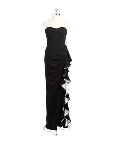 Brands Formalevening Evening Gown With Ruffled Cascade Lord