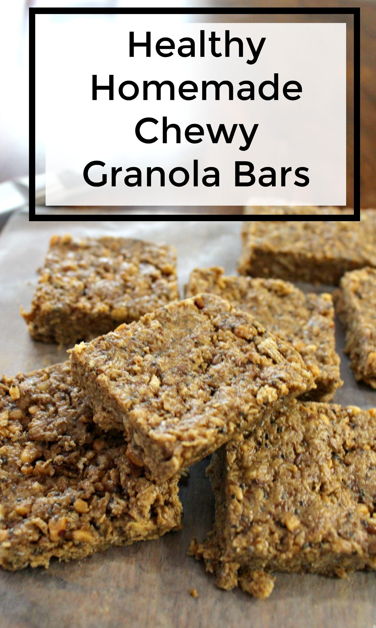 healthy homade chewy granola bar recipe - jenny at ...