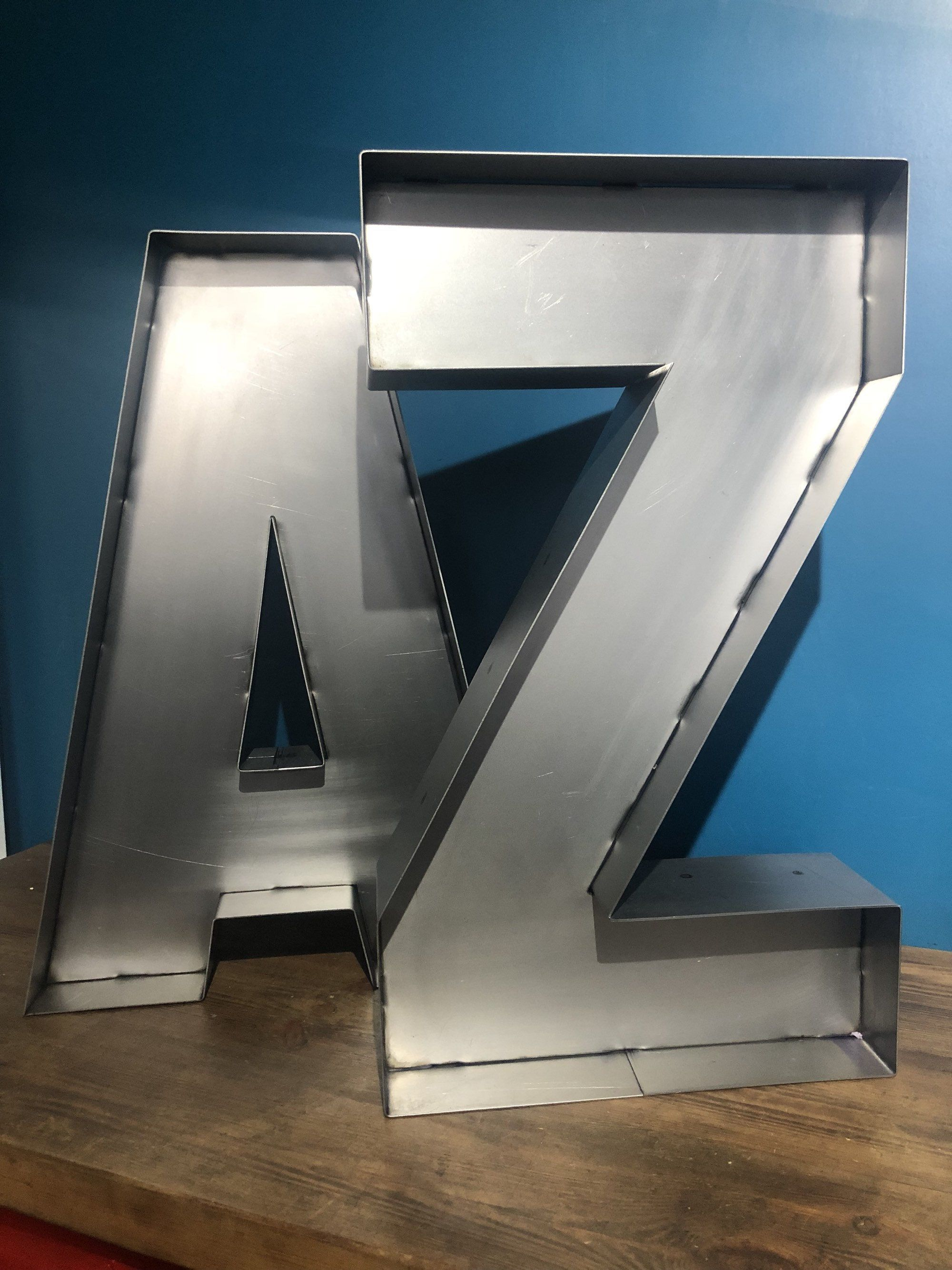 Large 3d Metal Letter Marquee Letter Metal Sign Letters Etsy Metal Letters Marquee Letters Vintage Industrial Style