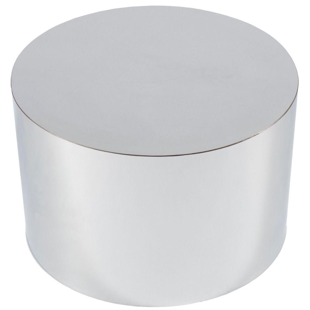 Chrome Drum Coffee Table: Milo Baughman Drum Table In Chrome