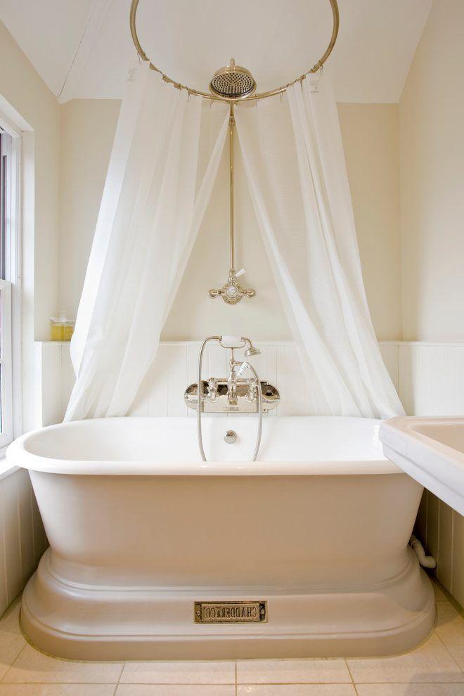 Shower Over Freestanding Bath Ideas Bathroom Victorian With Soaking Hot Baths Offer Relaxation Interior Design Wooden Bathtubs For Modern Interior Design And Clawfoot Tub Shower Victorian Bathroom Modern Shower Curtains