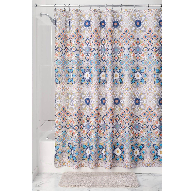 Turkish Tile Shower Curtain Fabric Shower Curtains Medallion Shower Curtain Shower Curtain