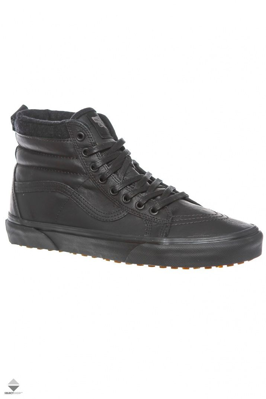 VANS Sk8 HI Mte Black Leather VN0XH4GZH